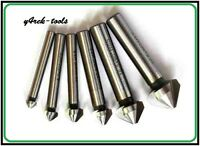 6 Pcs HSS Countersink Drill Bit Set 90° for Metal 6.3mm to 20.5mm made from M45