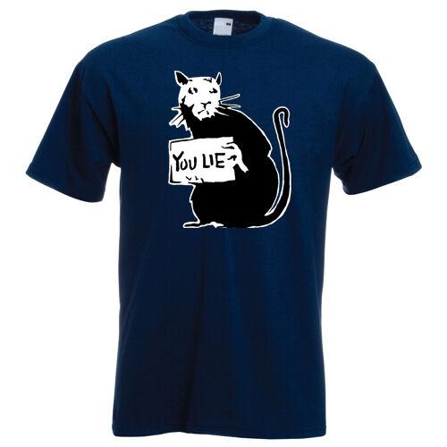 Banksy Rat you lie teeshirt  urban street Bristol art grafitti t-shirt brand new