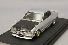 1/43 IG Model Ignition Nissan Skyline 2000 GT-X (KGC10) Silver IG0132 G