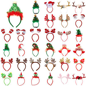 Christmas-Headband-Santa-Xmas-Party-Decor-Hairband-Clasp-Head-Hoop-DIY-Decor-LOT