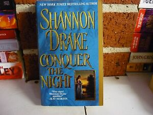SHANNON-DRAKE-HISTORICAL-ROMANCE-CONQUER-THE-NIGHT-COMB-POSTAGE-SAVE