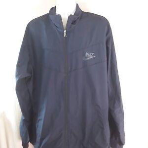 2350cf636b NIKE Sportswear Blue Windbreaker Jacket Mens XXL 2XL Full Zip Mesh ...