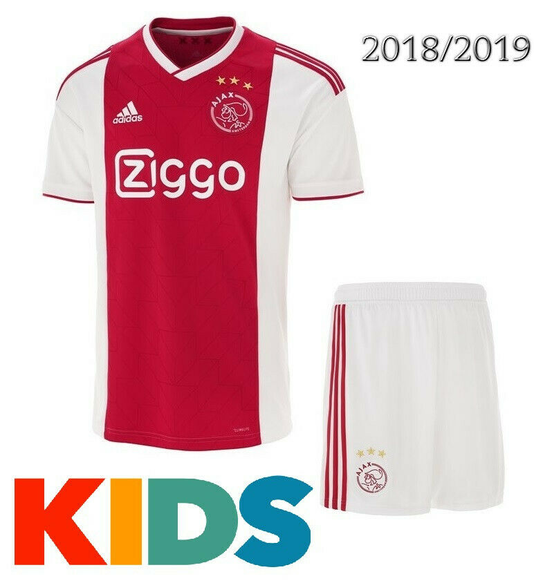 85b4cad1bcf Kids Ajax Home Jersey 2018-2019 Kit Soccer ntagoq5676-Other Soccer ...