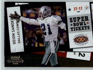 2010 Playoff Contenders Super Bowl Ticket #56 Deion Sanders - Dallas Cowboys