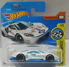 Hot Wheels 2017 / 2016 FORD GT RACE Speed Graphics 1/10 weiß NEU / OVP