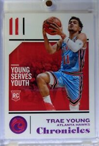 2018-18-19-Panini-Chronicles-Pink-Trae-Young-Rookie-RC-94-Atlanta-Hawks