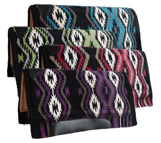Showman Western SADDLE  PAD 36  x 34  MEMORY FELT Navajo Diamond Woven Wool Top  large discount