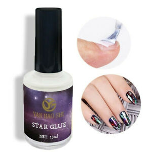 15ml-Nail-Art-Glue-Gel-Galaxy-Star-Adhesive-For-Foil-Sticker-Transfer-Tip-DIY-S8