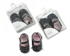 Baby Pram Shoes-Niñas-Negro - 541