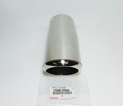 FACTORY OEM LEXUS 02-10 SC430 DRIVER EXHAUST TAIL PIPE BAFFLE 17408-50040 LH