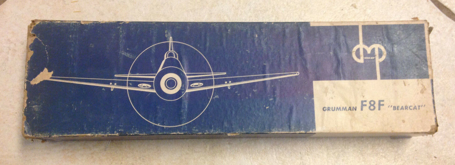 EXTREMELY RARE F-8 GRUMMAN BEARCAT - WOOD MODEL IN THE ORIGINAL BOX