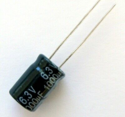 10 X 1000uF 63V Radial Aluminium Condensateur Électrolytique ±20/%
