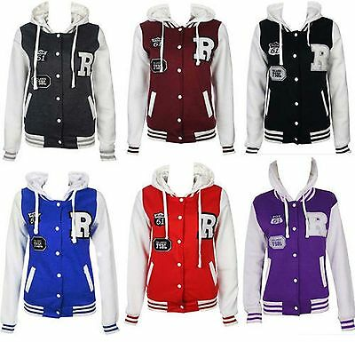 Women's Ladies Plus Size R-FOX Varsity baseball jacket Tracksuit Hoodie UK 16-28