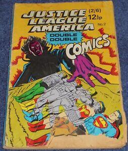 JUSTICE LEAGUE DOUBLE DOUBLE COMICS #2~DC~1967~JLA #50 + 51~METAL MEN #31~SILVER