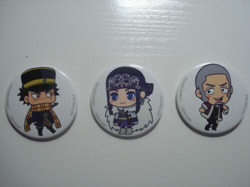 Golden Kamuy pins Set of three Sugimoto Asirpa Shiraishi chibis