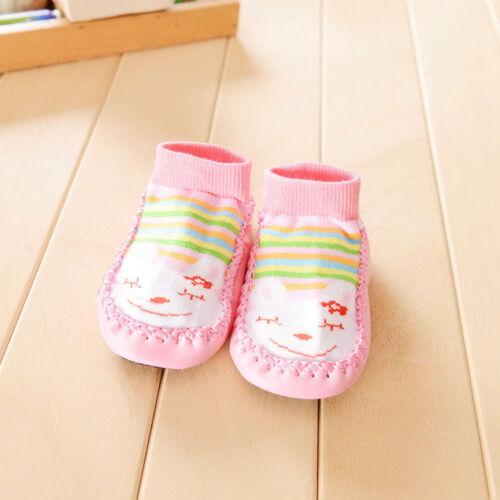 Baby Kids Cartoon Shoes Toddler Anti-slip Socks Shoes Slipper Socks Boots UK