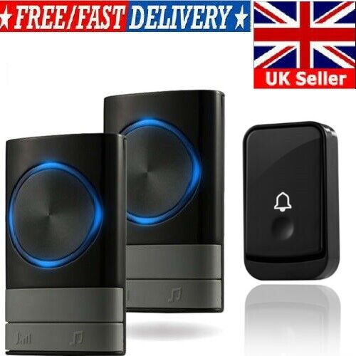 Twin Wireless Door Bell Plug Long Range Home Post Delivery Loud Chime 52 Music W