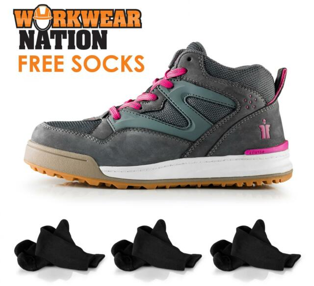 Scruffs Womens Switchback SBP Rating Nubuck Safety Work Boot Grey FREE BEENIE