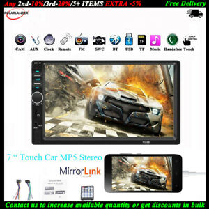 7-034-2-DIN-Touch-Screen-Autoradio-Bluetooth-AUX-Stereo-Mirror-Link-TF-MP5-Lettore