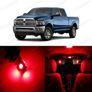 10 X Super Red Led Interior Light Package For Dodge Ram 1500 2500 2002 2011 Ebay