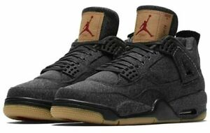 57fa2bd5dac9 AIR JORDAN 4 RETRO IV LEVI Black Denim Sneakers Men s Size 8.5 READ ...