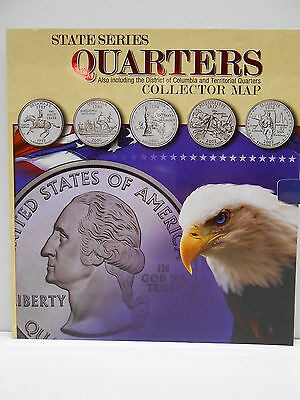 Huge Collector's State Quarter Coin Map Folder & Album DC & Territory