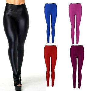 12fd864526815 New Women's Shiny High Waist Stretchy Disco Dance Ladies Leggings ...