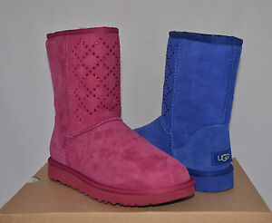 86b752e31ce Details about $265 UGG Classic Short Swarovski Crystal Diamond Boots  Sheepskin New NIB 6 7 8 9