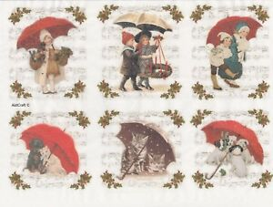 Rice paper for Decoupage Scrapbooking Sheet Childer umbrella and flower
