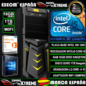 Ordenador-Gaming-Pc-Intel-Core-i5-16GB-DDR3-1TB-HDD-Wifi-Sobremesa-Marca-Espana