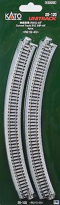 4 Fashion Style K20-120 Kato N Scale Ground Level Radius 315mm Curved Track 45 Deg. Fashionable Style; In
