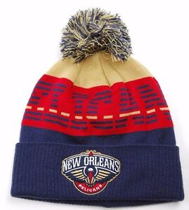 Details About New Orleans Pelicans Adidas Kn17z Nba Basketball Knit Pom Pom Winter Hat Beanie