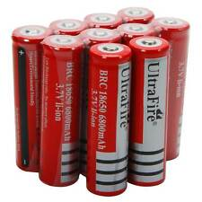 10X 3.7V BRC Li-ion Rechargeable Battery 18650 for LED Torch Flashlight Camera
