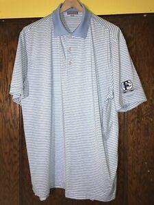 Peter-Millar-Mens-Large-Summer-Comfort-Polo-Shirt-Striped-Blue-White-C15