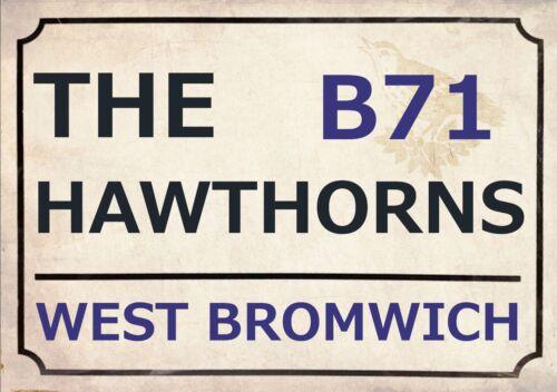 West Brom Football Art Print Street Sign The Baggies Footy Design