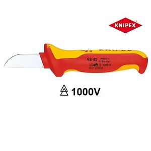 KNIPEX-9852-180mm-CABLE-stripping-Tool-VDE-Isolati-50mm-CW-SLIP-Guard-9852