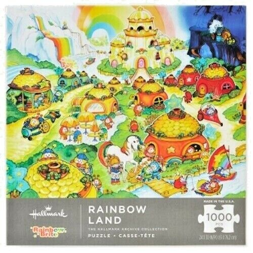 Hallmark Rainbow Land 1000 pc Jigsaw Puzzle Family Fun NIB Rainbow Brite Sprites