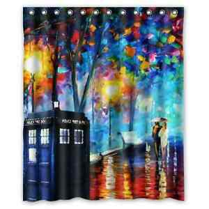 Image Is Loading Doctor Who Shower Curtain Bath Decor 60