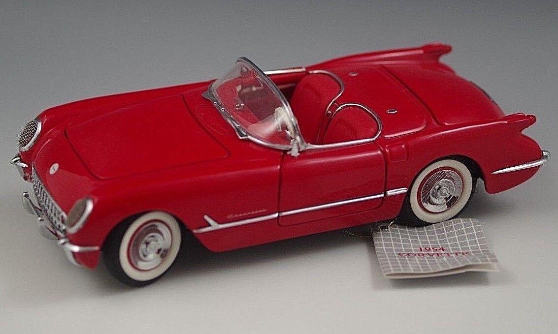 FRANKLIN MINT 1954 CHEVROLET CHEVROLET CHEVROLET CORVETTE CONgreenIBLE 1 24 SCALE DIE CAST MIB 1eb66f