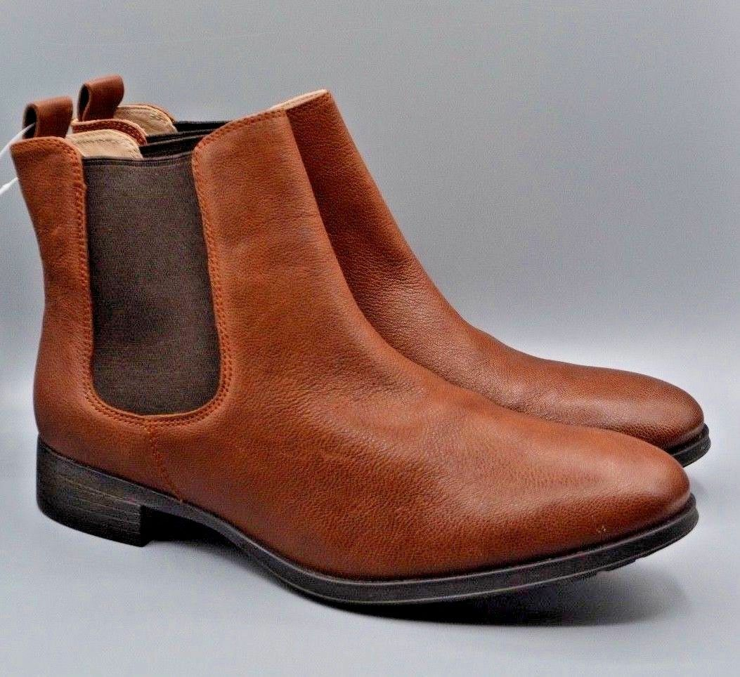 NEW Clarks  Mariella Busby  Ladies Brown Leather Chelsea Ankle Boots D