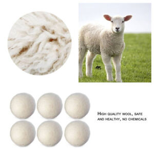 Wool-Dryer-Balls-2-Pack-Eco-Superior-Quality-Reusable-Tumble-Laundry-Dry-UK-ME8