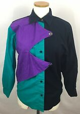 Women's Vintage Western Rodeo Shirt Cowgirl Brush Popper Miller Stockman Small