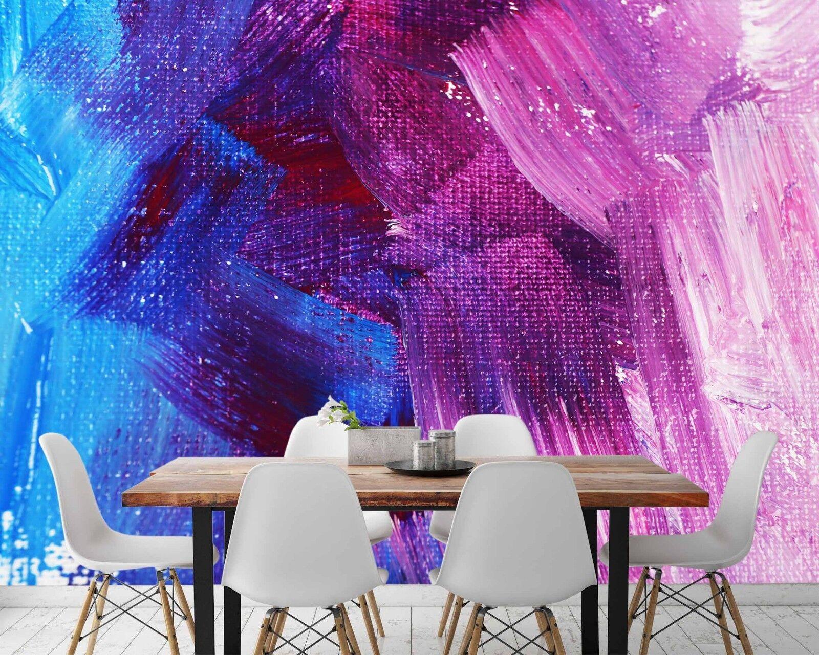 3D Blau lila Paint 45 Wallpaper Murals Wall Print Wallpaper Mural AJ WALL UK