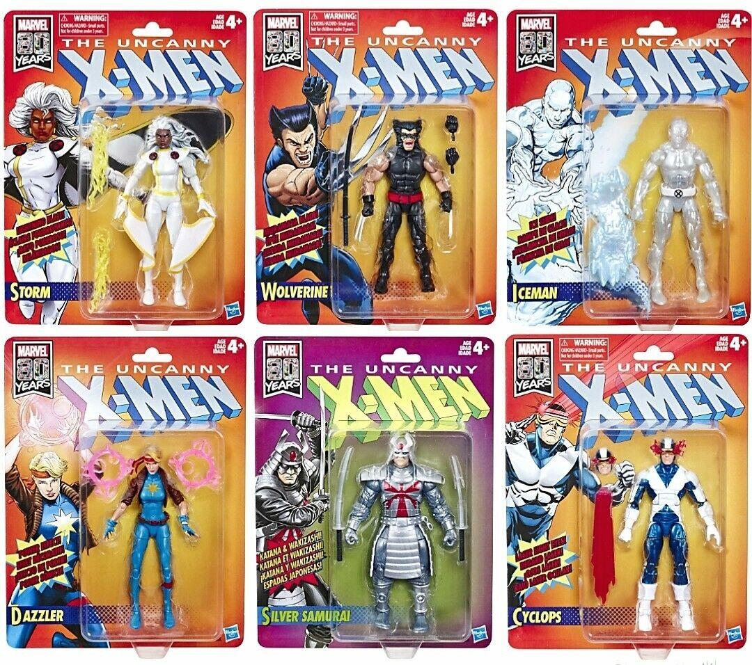 Marvel Legends X-Men Retro Wave 1 Cyclops, Storm, Storm, Wolverine, Iceman, Dazzler....