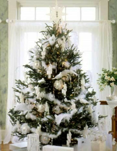 5//10 PCS 2M White Feather Boa Hen Night Xmas Tree Party Deluxe Fancy Dress Decor