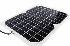 5W 12V Solar Panel Trickle Charger for Auto Yacht Truck W/ Alligator Clips