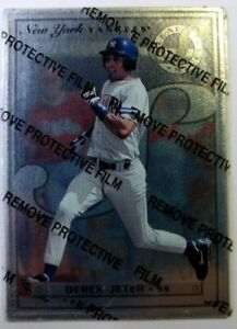 1996-96-Leaf-Preferred-Steel-Derek-Jeter-40-With-Peel-New-York-Yankees