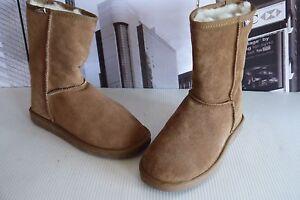 e94c117415b EMU Australia Women's Bronte Lo Boots Chestnut Merino wool US 9 / UK ...