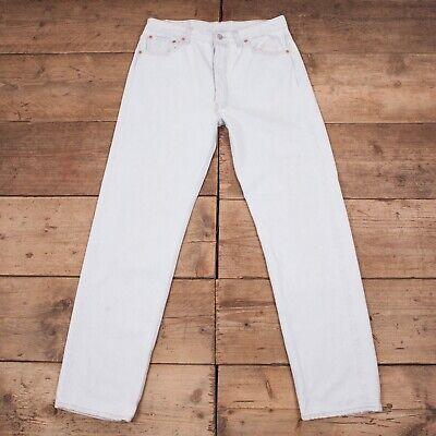 """Da Uomo Vintage Levis Red Tab 501 1980s Jeans Denim Blu Pallido Usa 35"""" X 34"""" R12098-mostra Il Titolo Originale Morbido E Leggero"""