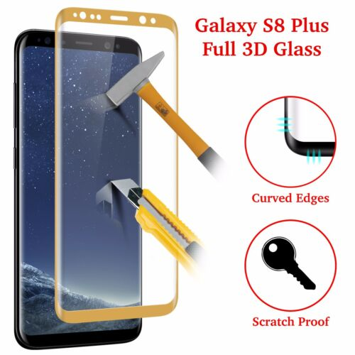 Samsung Galaxy S8 Plus [Case Friendly] 3D TEMPERED GLASS Screen Protector